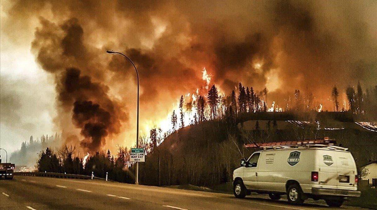 incendio que esta afectando a Canadá