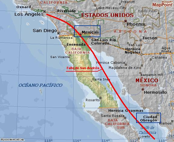 mega terremoto en la falla de San Andrés