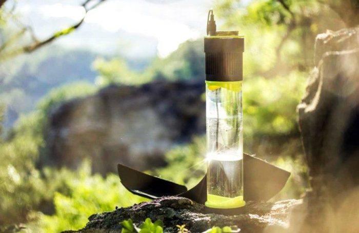 ¿Una botella de agua autosustentable?