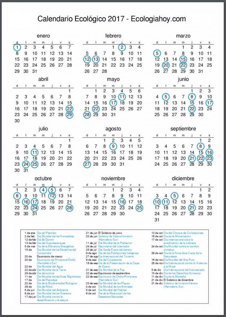 Calendario Ambiental Ecológico