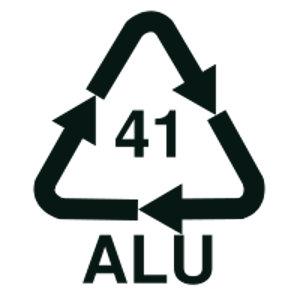 Símbolo del aluminio reciclable