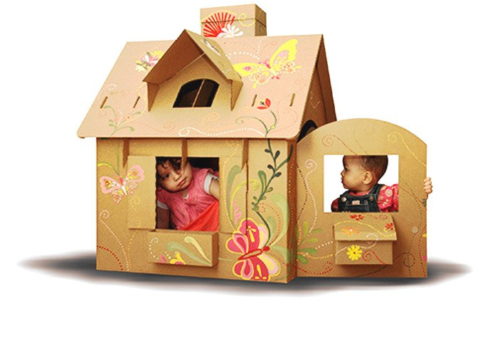 casas de carton, una de las mejores formas de aplica el reciclaje de cartón