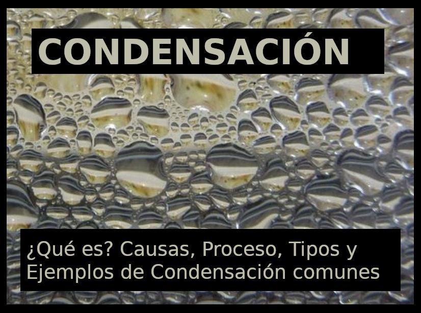 Condensación Qué Es Tipos Proceso Y Ejemplos